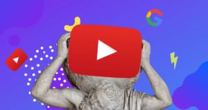 Staty som bär på Youtube-playknapp