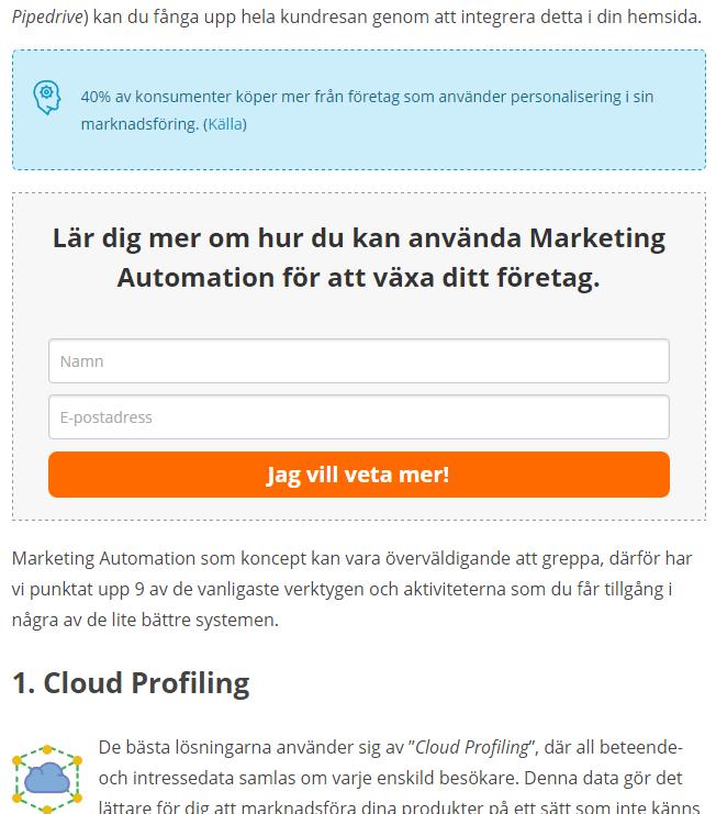 Screenshot of an embedded widget from Triggerbee