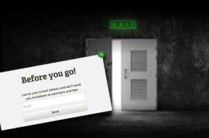 Exit intent meddelande