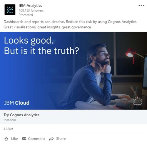 IBM Linkedin ad