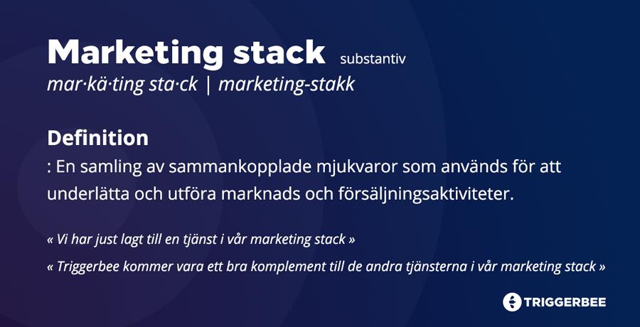 Definition av Marketing Stack