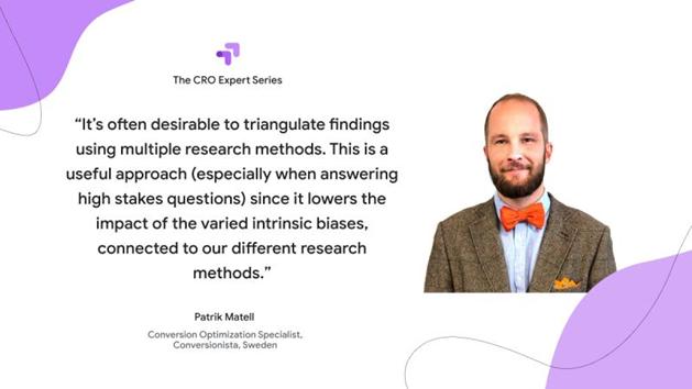 Patrik Matell på Conversionista säger att man vill titta på olika datakällor för att komma till ett beslut.