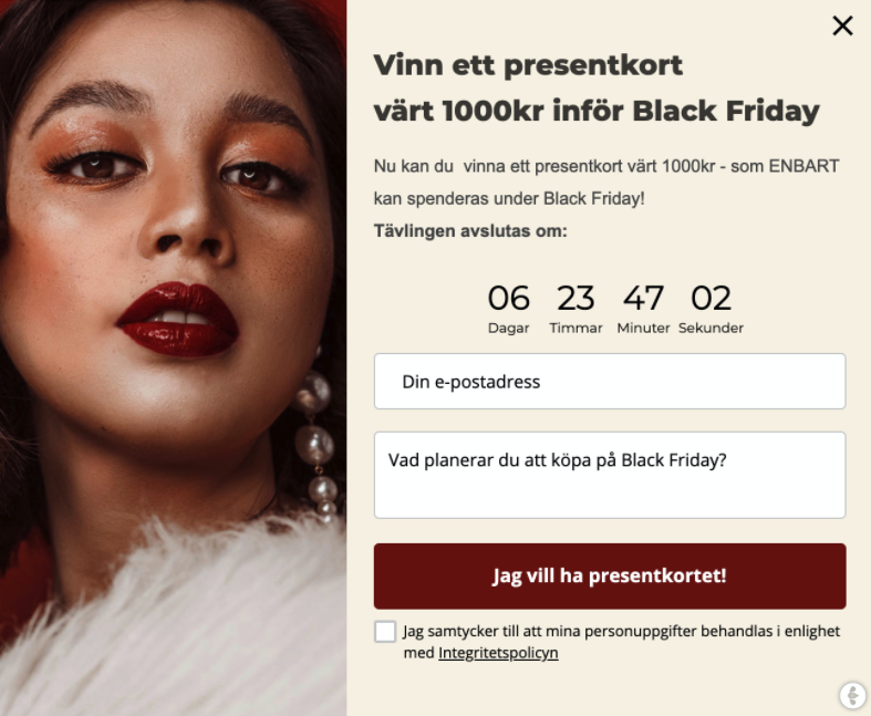 Vinn ett presentkort värt 1000kr inför Black Friday