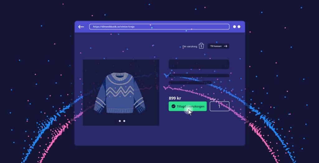 E-handel som skickar in data