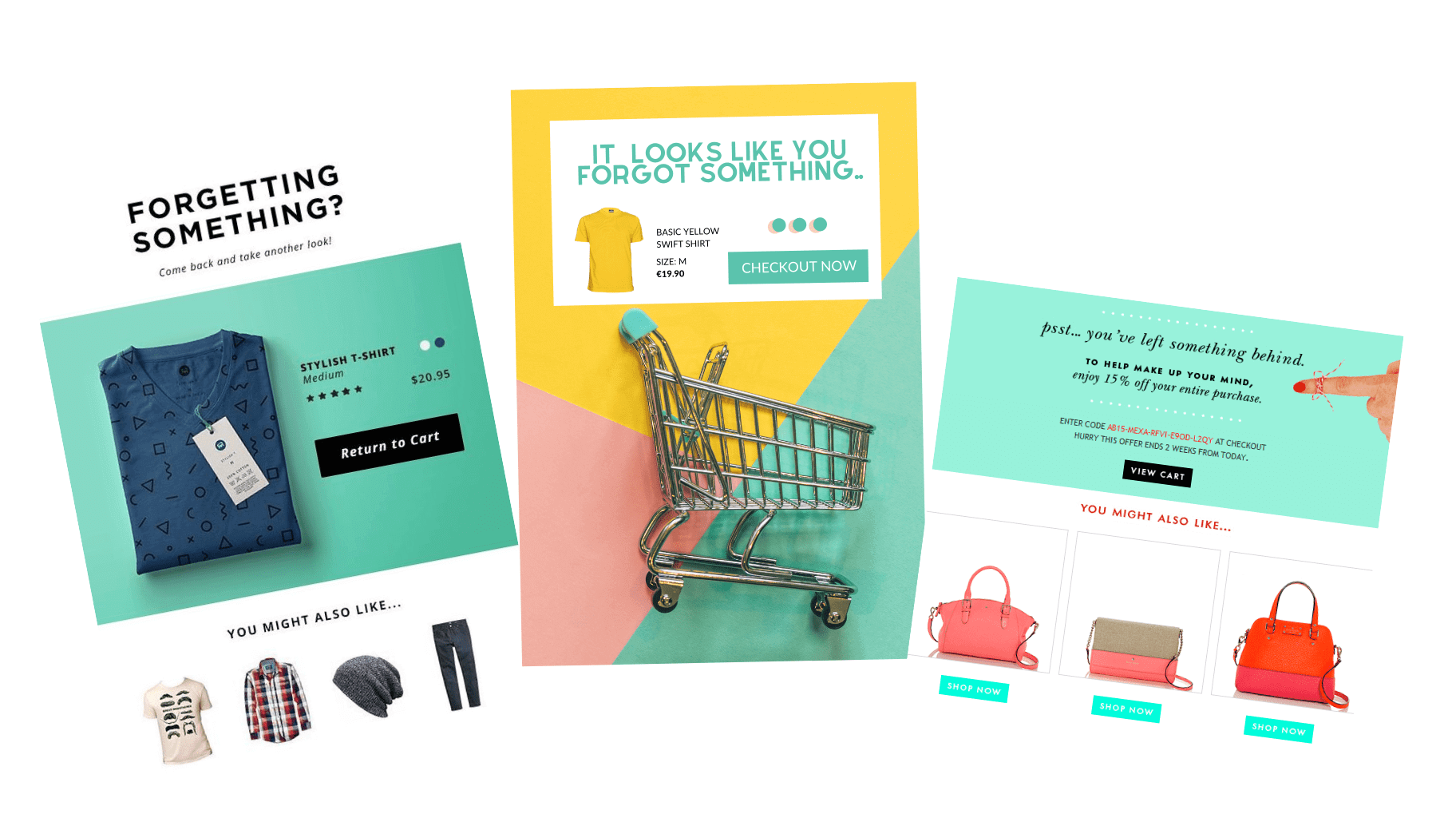Cart abandonment email examples